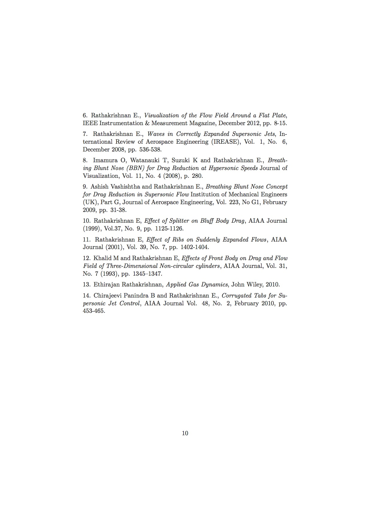 Professor Rathakrishnan's page
